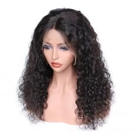 Frontal Lace wig 100% cheveux brésilien Remy Natural Wave avec baby hair densité 180