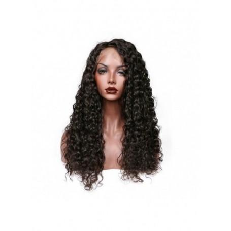 Frontal Lace wig 13x4 Deep Wave Cheveux Brazilian Remy Hair Avec Baby Hair densité 180