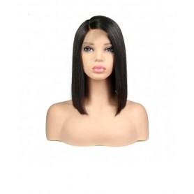 Frontal Lace wig 13x4 Lisse Middle Part  Brazilian Remy Hair Avec Baby Hair