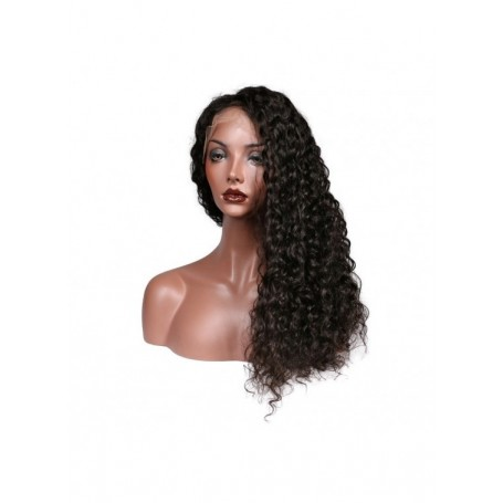 Frontal Lace wig 13x4 Deep Wave Brazilian Remy