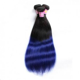 Tissage Brésilien humain Tie And Dye 1b/Bleu x3