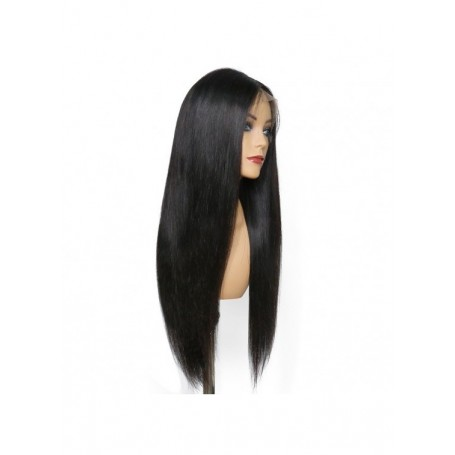 Frontal Lace wig 13x4 Lisse Brazilian Remy Avec Baby Hair