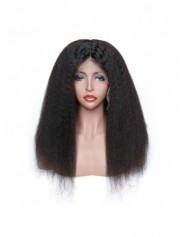 Frontal Lace wig 13x4 Kinky straight Brazilian Remy Avec Baby Hair densité 180