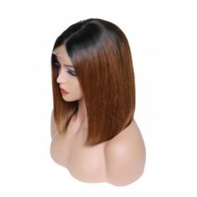 Frontal Lace wig 13x4 bob ombré 1B/30 Brazilian Remy Avec Baby Hair