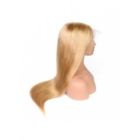 Frontal Lace wig 13x4 Lisse 27 Brazilian Remy Avec Baby Hair densité 180