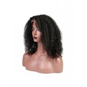 Frontal Lace wig 13x4 Kinky Curl Brazilian Remy Avec Baby Hair densité 180