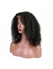 Frontal Lace wig 13x4 Jerry Curl Brazilian Remy Avec Baby Hair densité 180