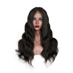 Frontal Lace wig 13x4 Body Wave Brazilian Remy Avec Baby Hair densité 180