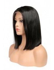 Frontal Lace wig 13x4 Lisse Brazilian Remy Avec Baby Hair densité 180