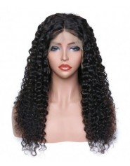 Frontal Lace wig 13x4 Deep Wave Brazilian Remy Avec Baby Hair densité 180