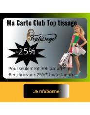 La Carte Club Top Tissage Offre 25% de Remise Pendant un An
