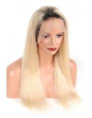 Frontal Lace wig 13X4 100% cheveux brésilien Remy lisse 1b/613