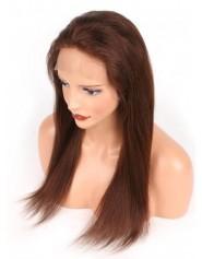 Frontal Lace wig 13X4 100% cheveux brésilien Remy lisse avec baby hair densité 180 Col4