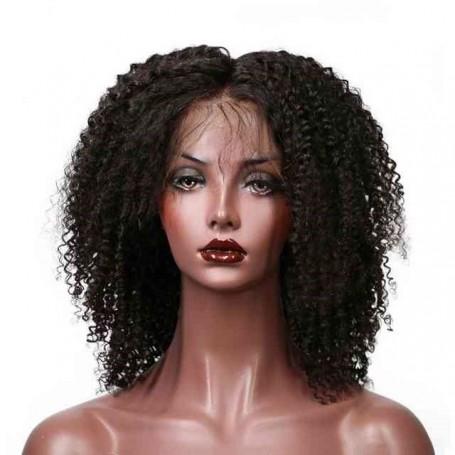 Frontal Lace Wig 13X4 100% Cheveux Brésilien Remy kinky curl avec baby hair densité 180
