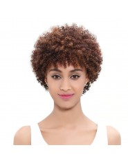 Perruque Afro Courte 100% Cheveux Humains