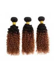 Rve Diana Deux Tone Couleur Brsilien Crpus Boucls Faisceaux T1B30 Humide Et Onduls de Cheveux Humains Om