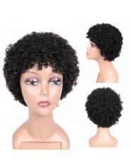 Perruque Afro Courte 100% Cheveux Humains