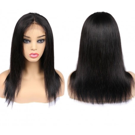 """Perruque Lace wig 4x4"""" Lisse Brazilian Remy 16"""""""