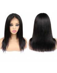 "Perruque Lace wig 4x4"" Lisse Brazilian Remy 16"""