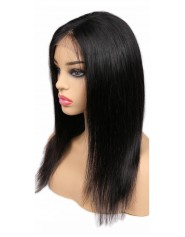 "Perruque Lace wig 4x4"" Lisse Brazilian Remy 18"""