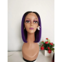 Frontal Lace Wigs Bobo Lisse 1B/Purple RM 10P