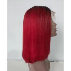 Frontal Lace Wigs Bob Lisse 1b/Burg RM 14P