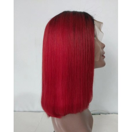 Frontal Lace Wigs Bob Lisse 1b/Burg RM 14P