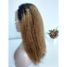 FRONTAL LACE WIGS JERRY CURL 1B/27 18P