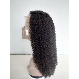 Perruque Frontal Lace Wigs Human Hair Jerry Curl 20P
