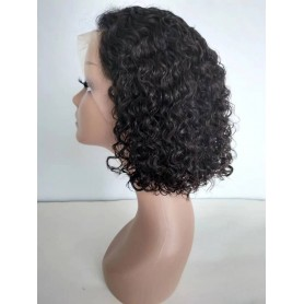 Frontal Lace Wigs Bob Deep Wave 1B 14P