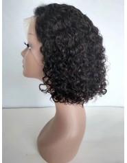 Frontal Lace Wigs Bob Deep Wave 1B 14P