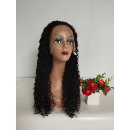 Frontal Lace Wigs Deep Wave 1B 24P