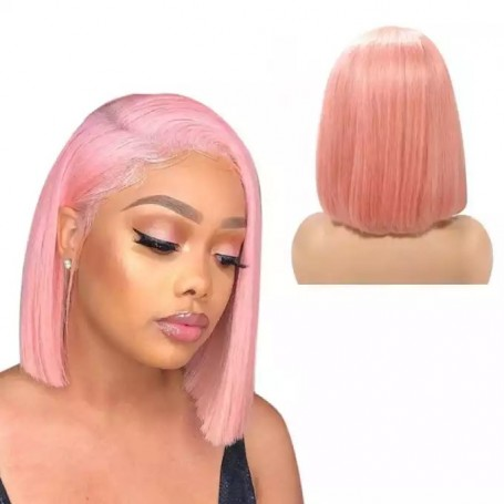 Frontal Lace Wigs Bob Lisse Rose RC 10P