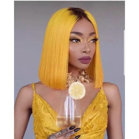 Frontal Lace Wigs Bob Lisse 1b/Jaune RM 10P