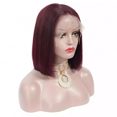 Frontal Lace Wigs Bob Lisse 99J RM 10P