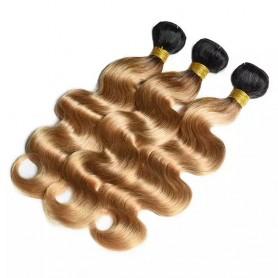 """Tissage Brésilien 3 tons Noir/Brun/Blond 20"""""""