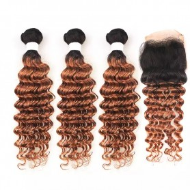 "2 Tissage Brésilien Body Wave Try Me 18"" ( 45 cm ) et Frontal"