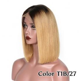 Frontal Lace wig 13x4 Lisse Brésilien Remy Hair Avec Baby Hair 1b/27
