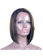 frontal Lace wig 13X4 100% cheveux brésilien Remy Lisse avec baby hair densité 180