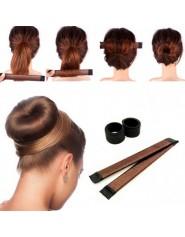 Fille franais plat synthtique magique cheveux chignon fabricant beignet Style outil femmes enfant perruque b