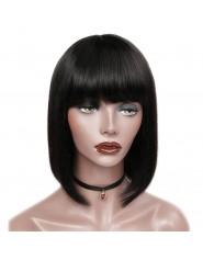 Bob Wigs Lisse 100% cheveux naturel RM1B 10P