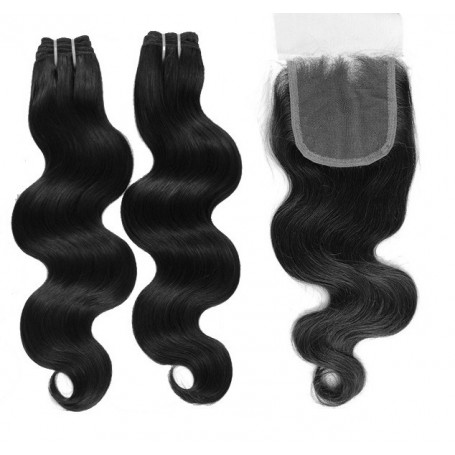 Tissage brésilien Body Wave et Closure x2