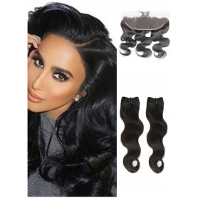"2 Tissage Brésilien Body Wave et Frontal Try Me 14"" ( 35 cm )"