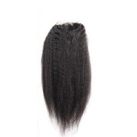 Closure bresilien kinky straight 18""