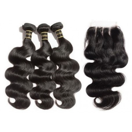 3 Tissage Brésilien Body Try Me et 1 closure