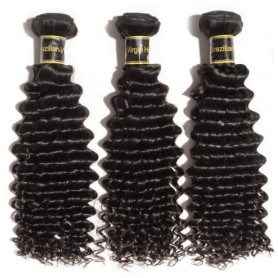Tissage Brésilien jerry curl 100% human hair x3