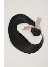 Extension à clip lisse noir intense 1