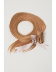 Extension à clip lisse blond foncé doré 6