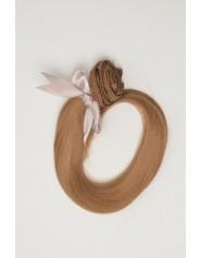Extension à clip lisse blond foncé cendré 8