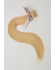 Extension à clip lisse blond naturel 22